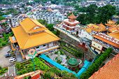 PENANG, MALAYSIA - APRIL 2012 : Bird View of Kek Lok Si Buddhist Temple of Supreme Bliss on April 19