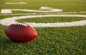 foto of football  - American Football near the Twenty Yard Line with room for copy - JPG