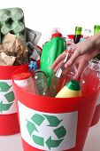 foto of segregation  - Recycling baskets - JPG