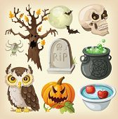 picture of bowler  - Set of colorful items for the day of the dead  - JPG