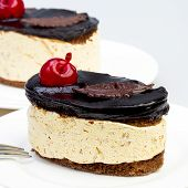Italian Dessert Tiramisu With Cream And Chocolate.