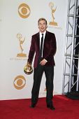 LOS ANGELES - SEP 22: Derek Hough in the press room during the 65th Annual Primetime Emmy Awards hel