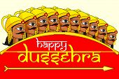 picture of ravana  - vector illustration of Ravana in Happy Dussehra - JPG
