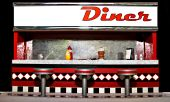 stock photo of yesteryear  - a generic diner of yesteryear ready for personalization - JPG
