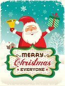 Santa Claus greeting card design