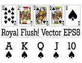 Royal Flush Cards and elements!