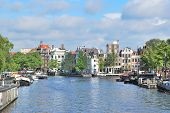 Amsterdam In  A Sunny Summer Day