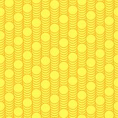 Seamless pattern scales of gold coins.