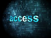Security concept: Access on digital background