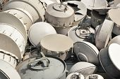 Used telecommunications Antena Dishes Backgorund