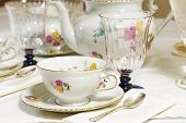 Antique Floral Tea Set