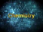 Education concept: Chemistry on digital background