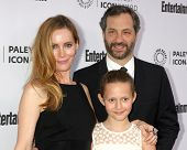 LOS ANGELES - MAR 10:  Leslie Mann, Iris Apatow, Judd Apatow at the PALEYFEST Icon Award IHO Judd Apatow at Paley Center For Media on March 10, 2014 in Beverly Hills, CA