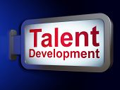 Education concept: Talent Development on billboard background
