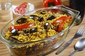 stock photo of biryani  - Eggplant Biryani  - JPG