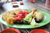Ngo Hiang Dish With Sausage Tofu And Fishballs