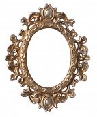 Oval frame with white opening