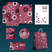 Stationery, Corporate Image Design with Dotted Pattern