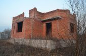 Lost city.Near Chernobyl area.Kiev region,Ukraine.Abandoned cottage construction site