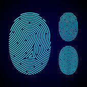 stock photo of fingerprint  - Types of fingerprint patterns  - JPG