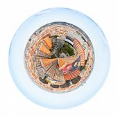 Spherical Panorama Of District In Barcelona, Spain