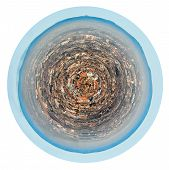 Spherical Panorama Of Marseilles City, France