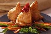 picture of bengal-gram  - Samosa  is an Indain fried or baked pastry with a savory filling - JPG