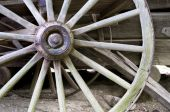 picture of wagon wheel  - Antique Wagon Wheel - JPG