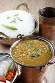 Mixed dal curry with rice from India