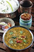 picture of ghee  - Palak tuvar dal made of tuvvar dal cooked with spinach - JPG