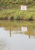 'Danger Deep Water' sign