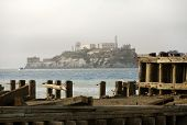 stock photo of alcatraz  - Alcatraz Federal Penitentiary in the San Fransisco Bay California - JPG