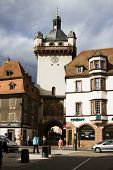 Selestat Cityscape With The Medieval Tower
