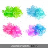 Watercolor splatters. Vector illustration