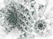 Dark Fractal Flower Pattern