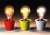 Three Different Light Bulbs