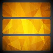 Abstract yellow geometric background  -  raster version