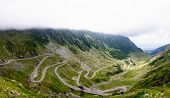 foto of paved road  - View of famous Transfagarasan Highway the second - JPG