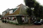 A typical historic house in the village of Egmond Binnen