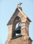 An old brick  Church Bell Tower.