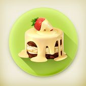 foto of fancy cake  - Cake with strawberry - JPG