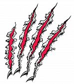 picture of claw  - A Fierce red and black Claw scratch - JPG