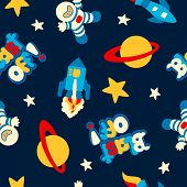Blast Off Seamless Pattern
