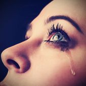 beauty girl cry