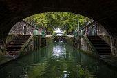 Lock On The Canal Of Saint Martin, Paris (france)