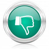 stock photo of dislike  - dislike internet icon - JPG