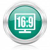 tv internet icon16 9 display internet icon