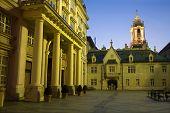 Bratislava - metropolitan palace and town-hall
