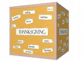 Thanksgiving 3D Cube Corkboard Word Concept