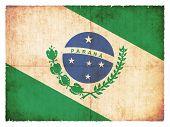 Grunge Flag Of Parana (brazil)